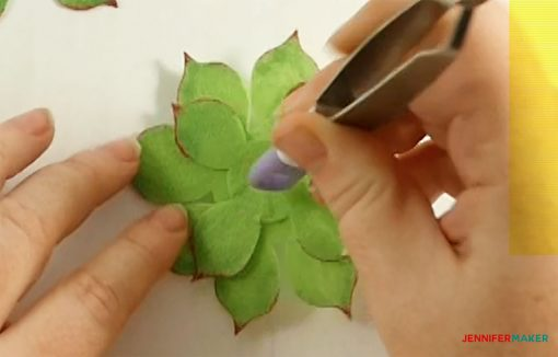Attach the second largest leaves to the first for your felt succulent