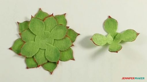 Make a cone shape in the next set of leaves