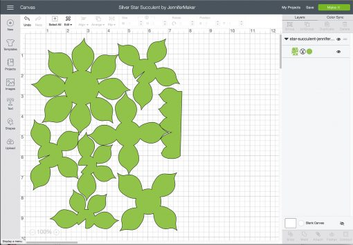 Upload the felt succulent file to Cricut Design Space