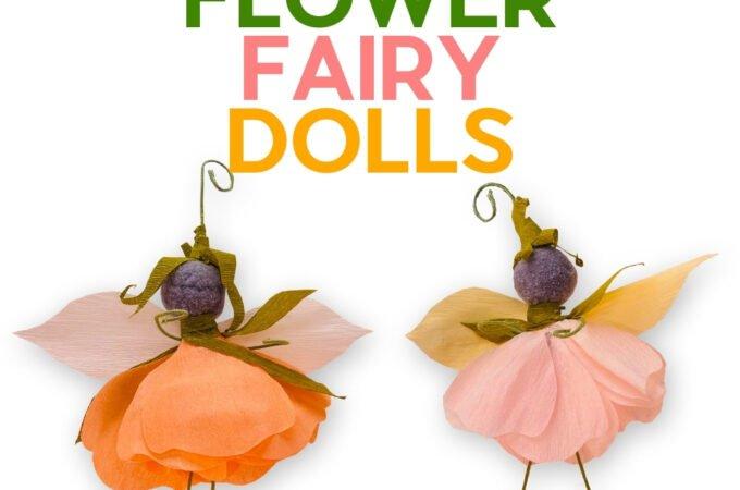 Finished flower fairy dolls