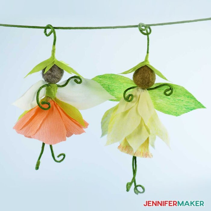 Hanging flower fairy dolls