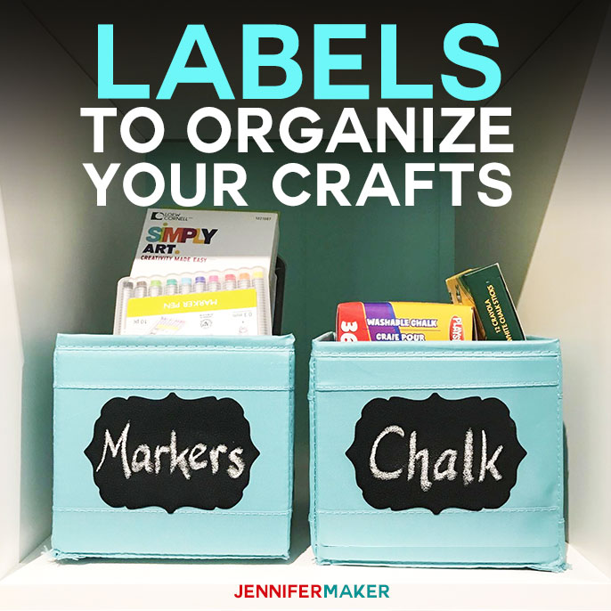 Free Label Templates to Organize Your Craft Supplies! | craft room organization | free printable labels