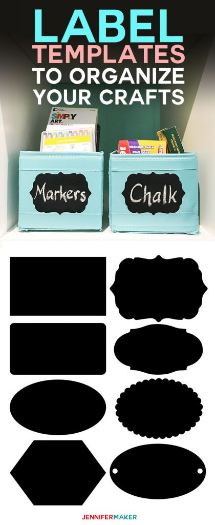 Free Label Templates to Organize Your Craft Supplies! | craft room organization | free printable labels | labels printables free | chalkboard labels | editable labels