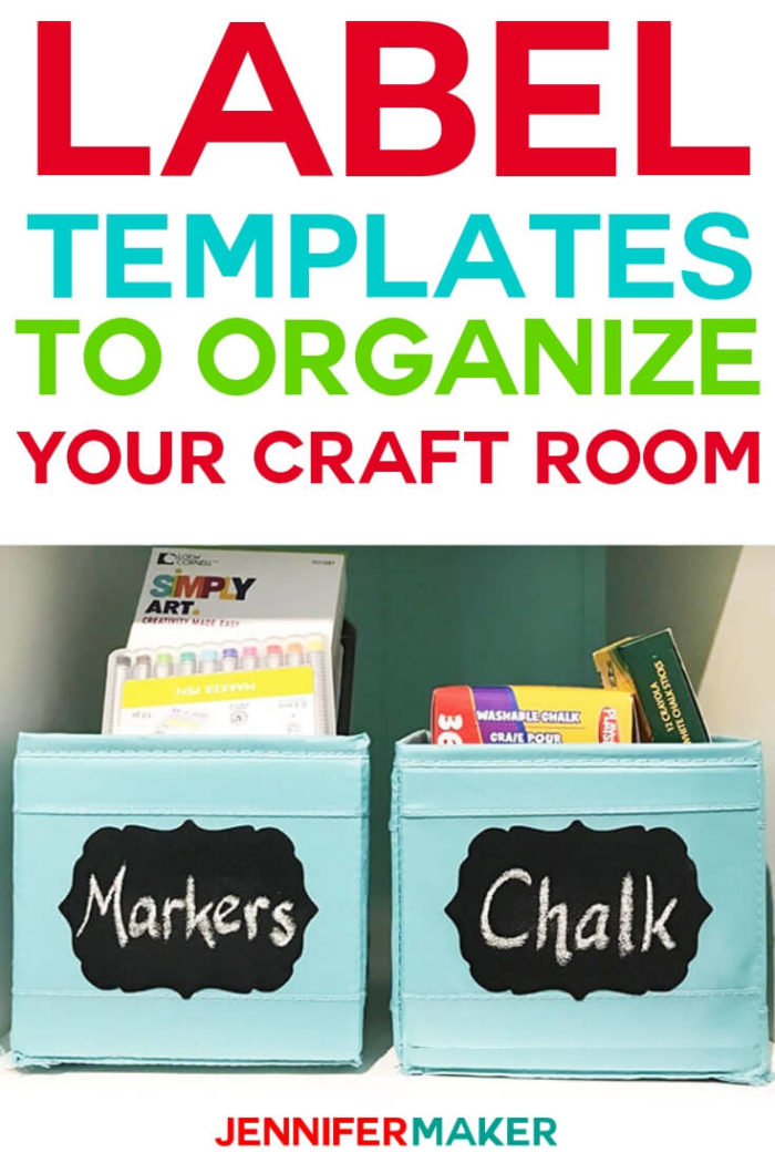 These free label templates will help you organize your craft room (or your house!). Click to download the free files. #craftroom #cricut #cricutmade #cricutmaker #cricutexplore #svg #svgfile