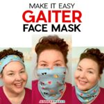Easy Gaiter Face Mask Pattern with Filter Pocket and Nose Wire - free printable pattern and SVG cut file #sewing #cricut #tutorial