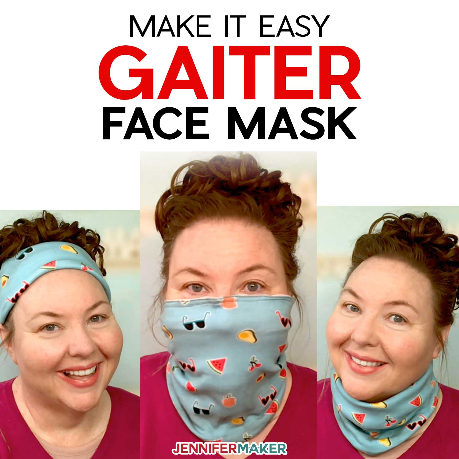 Gaiter Face Mask Pattern Easy Fast Versatile Jennifer Maker