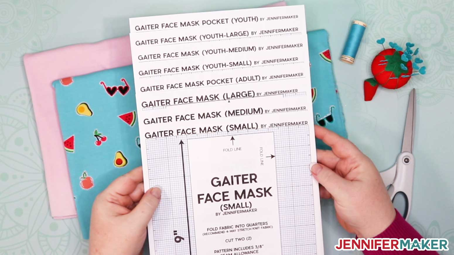 Gaiter Face Mask Patterns PDF Printed