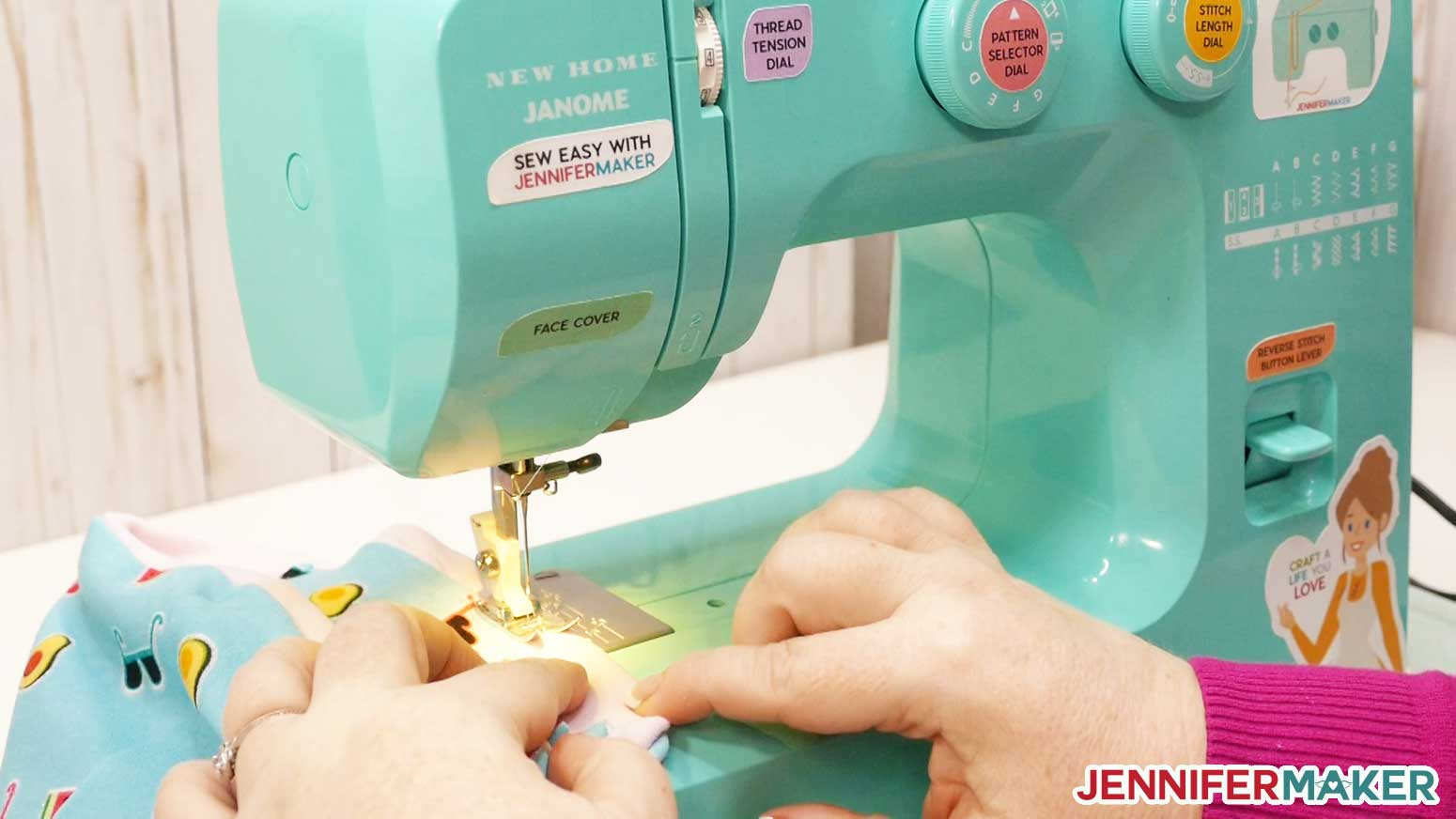 Sewing the seam closed for your DIY gaiter face mask