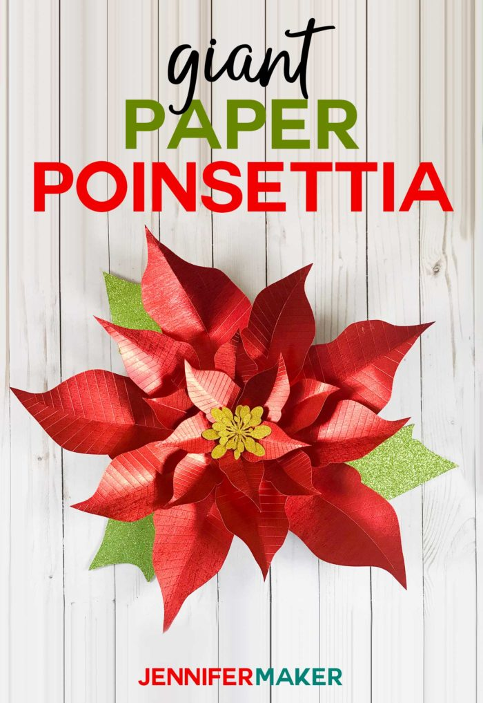 graphic regarding Poinsettia Pattern Printable identify Big Paper Poinsettia Flower Behavior - Jennifer Company