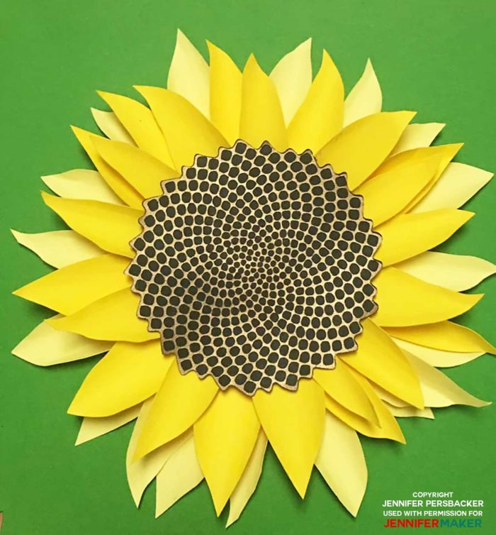 Giant Paper Sunflower by reader Jennifer P and designed by Jennifer Maker