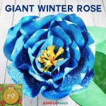 Giant Paper Winter Rose is perfect for winter wedding decor! | Cricut and Silhouette SVG cut file and tutorial | Christmas Rose | Paper Hellebores
