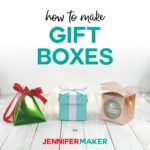 How to make cute gift boxes on the Cricut -- three free designs, including a Tiffany box and an ornament box! #cricut #gifts #holidaygifts #box