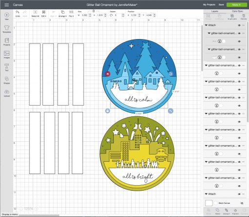 Uploading the svg cut file to Cricut Design Space