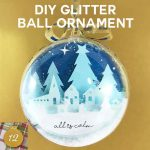DIY Glitter Ball Ornament, Two Sides, Two Scenes | Silent Night | All is Calm, All is Bright | Christmas Ornament | Free SVG Cut Files