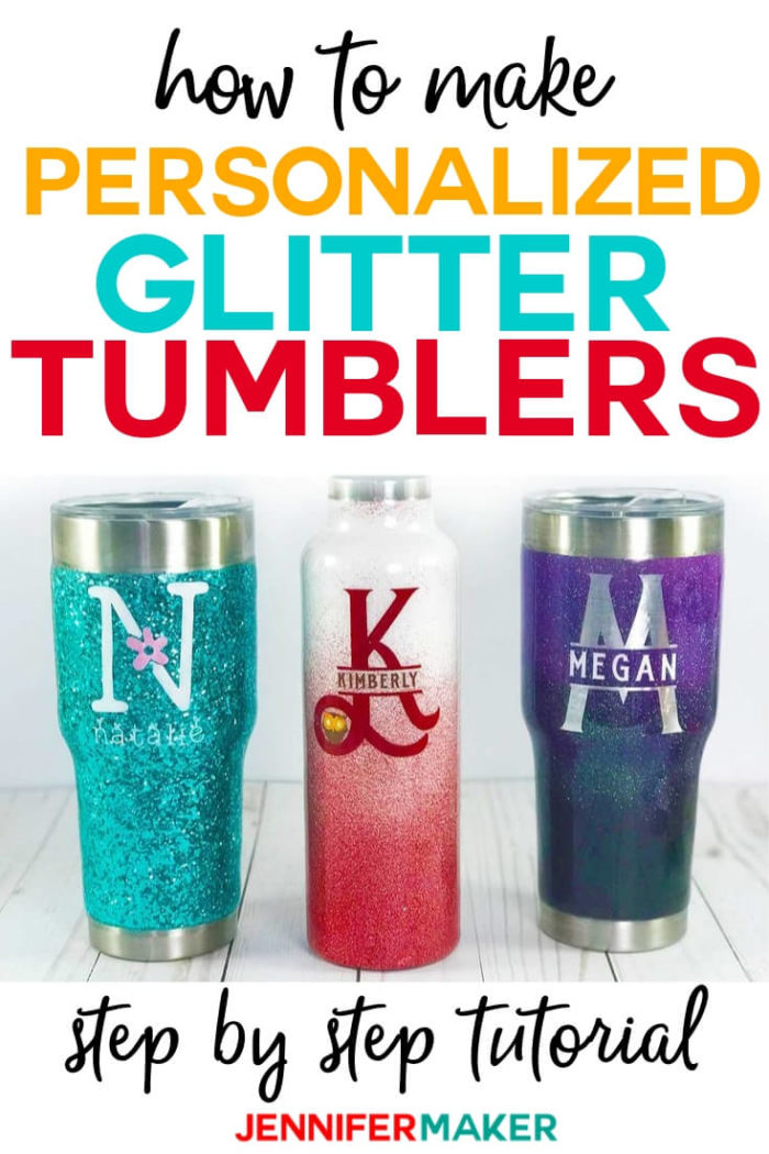 Learn the complete process of making DIY glitter tumblers, from selecting the right tumblers and adhesive to applying the glitter and epoxy resin to create a tumbling/curing rack to prevent drips! I break it down step by step to make it EASIER for you to have success! #vinylprojects #diy #tutorial #craftprojects