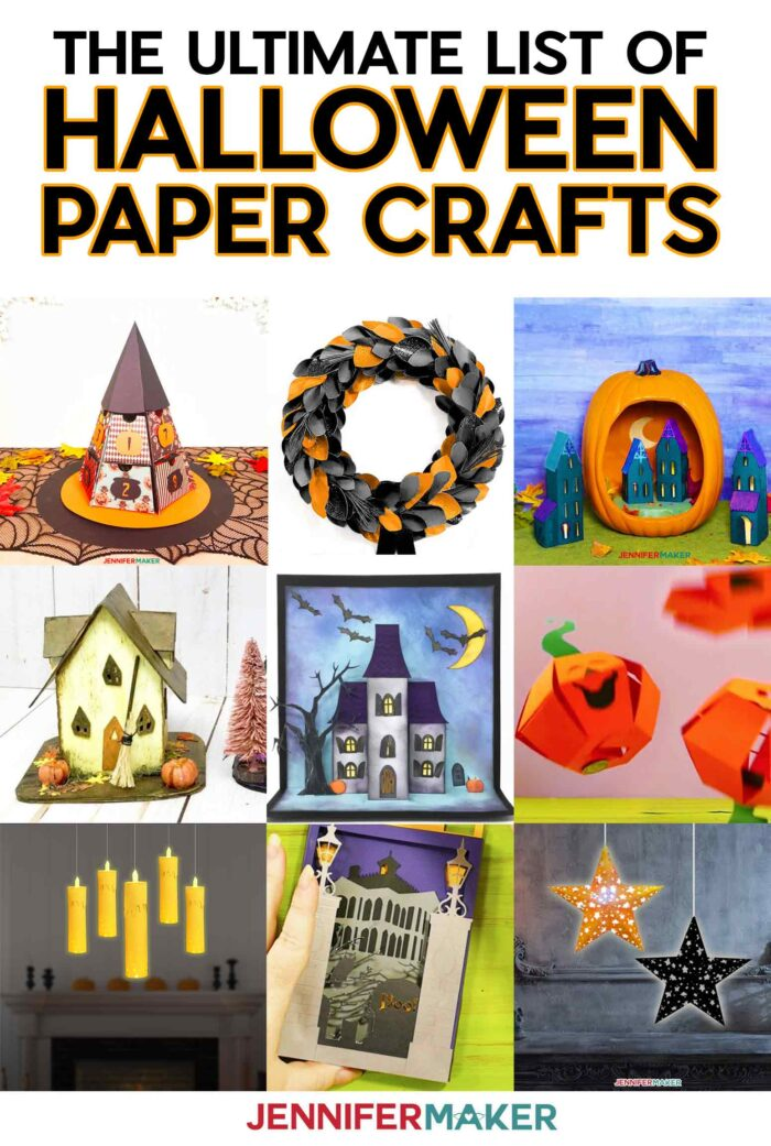 Halloween Paper Crafts with Free Printables & SVG Cut FIles