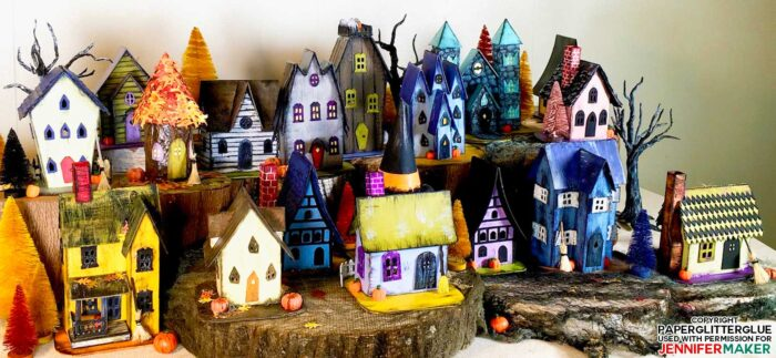 Little Paper Haunted Houses for Halloween from the 13 Handcrafted Halloween Houses E-Book