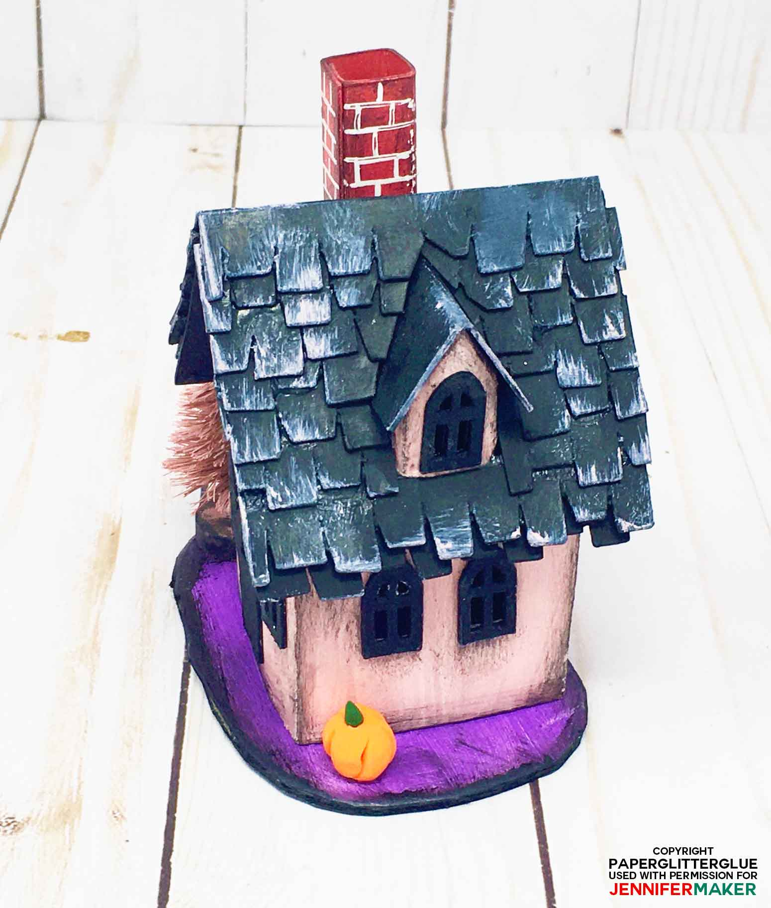 Dormer on roof of the little Halloween Paper Haunted House