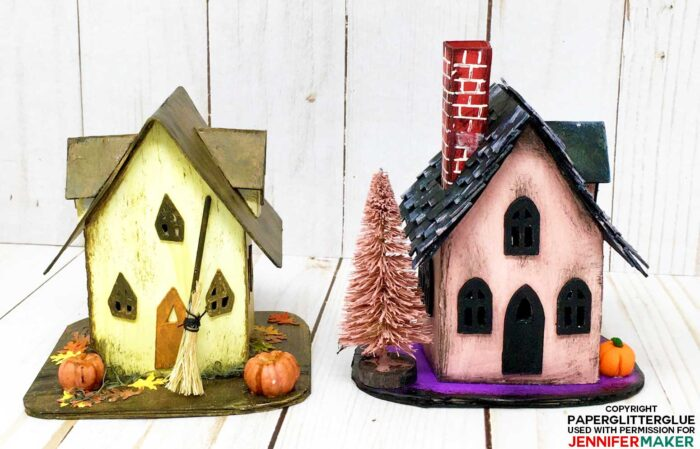 Little paper Halloween Haunted Houses you can make yourself!