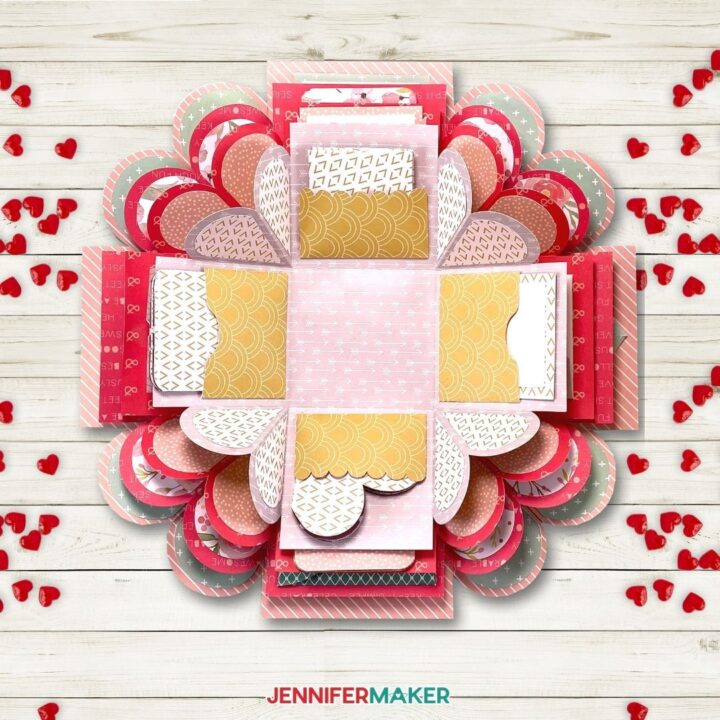 Learn how to make my heart explosion box