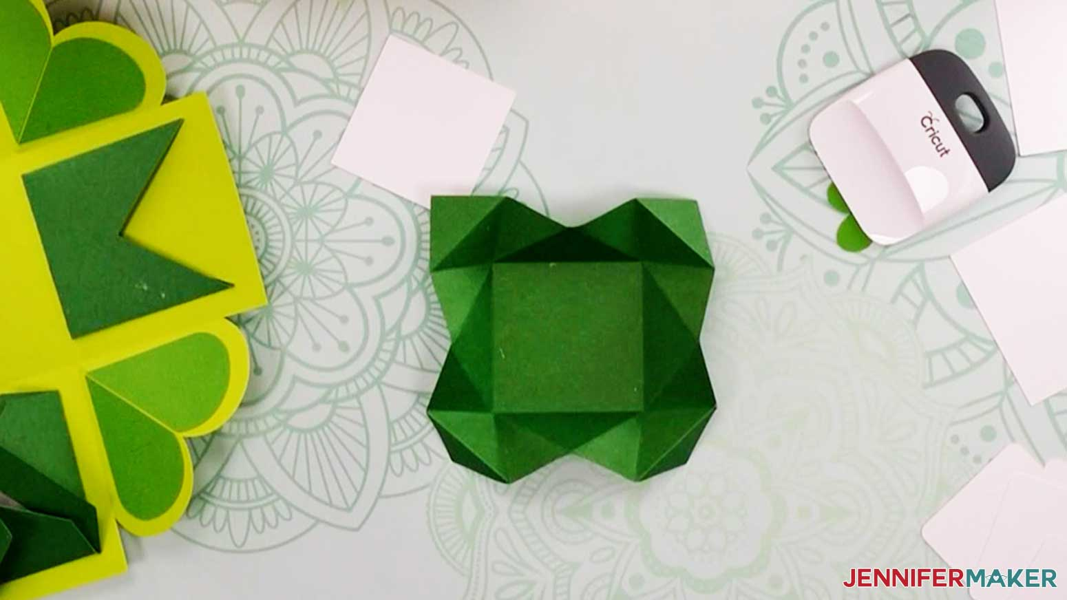 This is what your notecard should look like with the folds for my heart explosion box