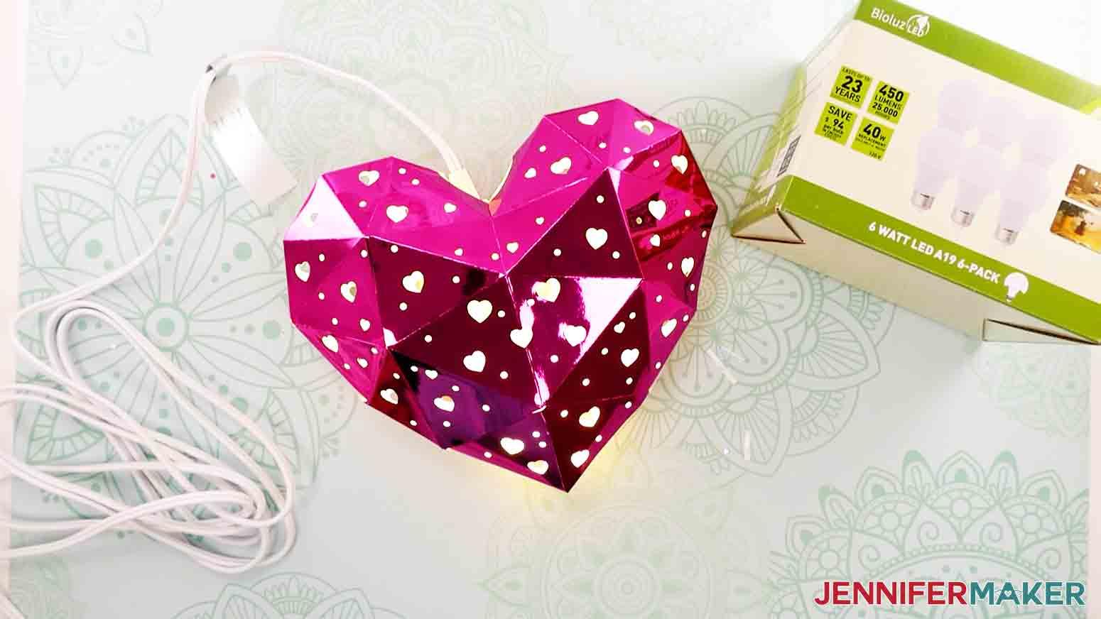 finished heart lantern