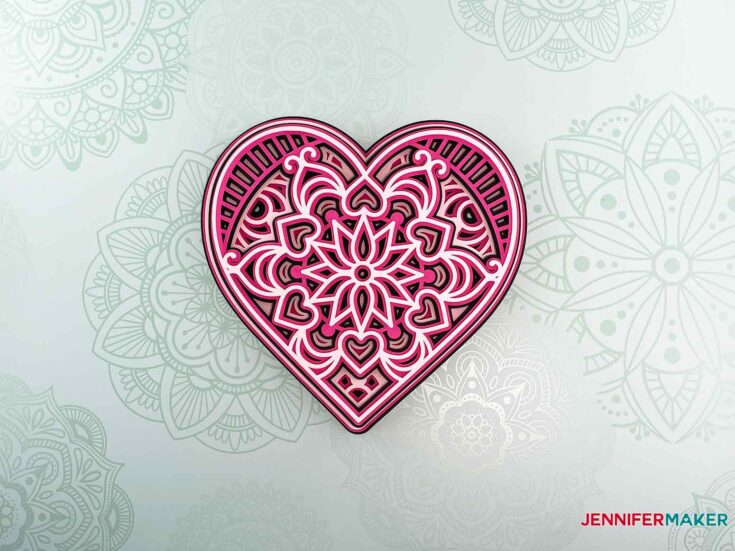 Hearts /& Daisies Mandala Umbrella