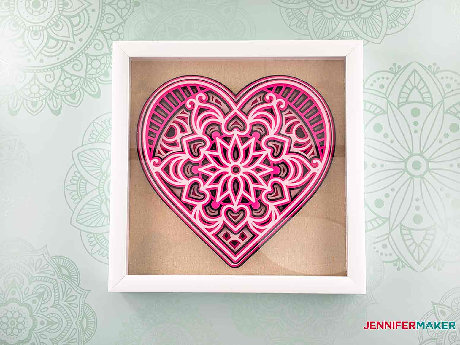 This is what my heart mandala looks like framed