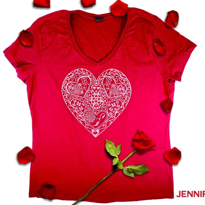 Heart mandala tshirt by jennifermaker