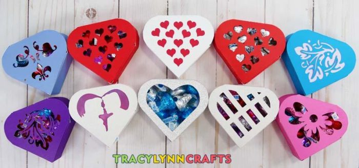 Easy Paper Heart Boxes made from one sheet of paper by TracyLynnCrafts.com