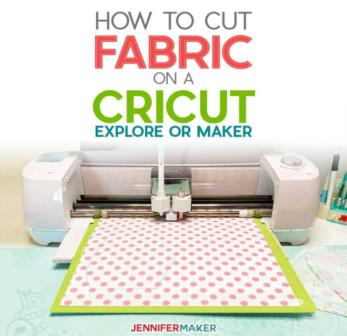 How to Cut Fabric With Cricut Explore or Maker - Step-by-Step Tutorial with fabric list, materials, tips, tricks #cricut #fabric #sewing