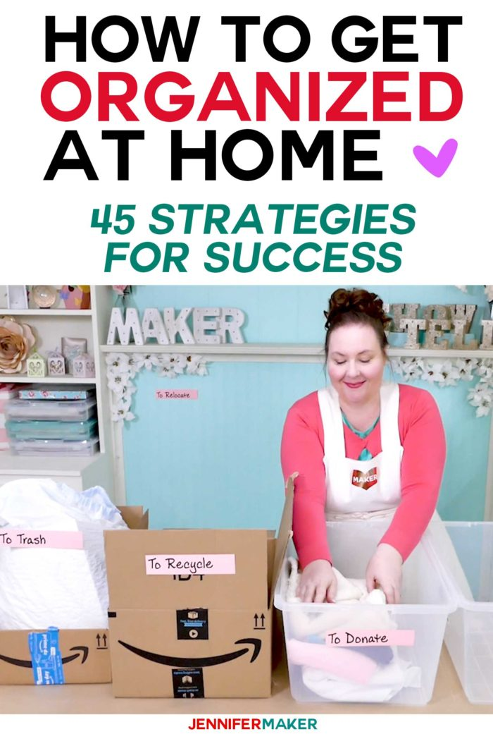 How to Get Organized at Home - Get a free ticket to the Get Organized HQ Summit and learn how to organize your home! #organize #storage #declutter