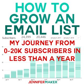 How to Grow An Email List: My Journey From 0-20k Subscribers in Less Than a Year | how to grow email list