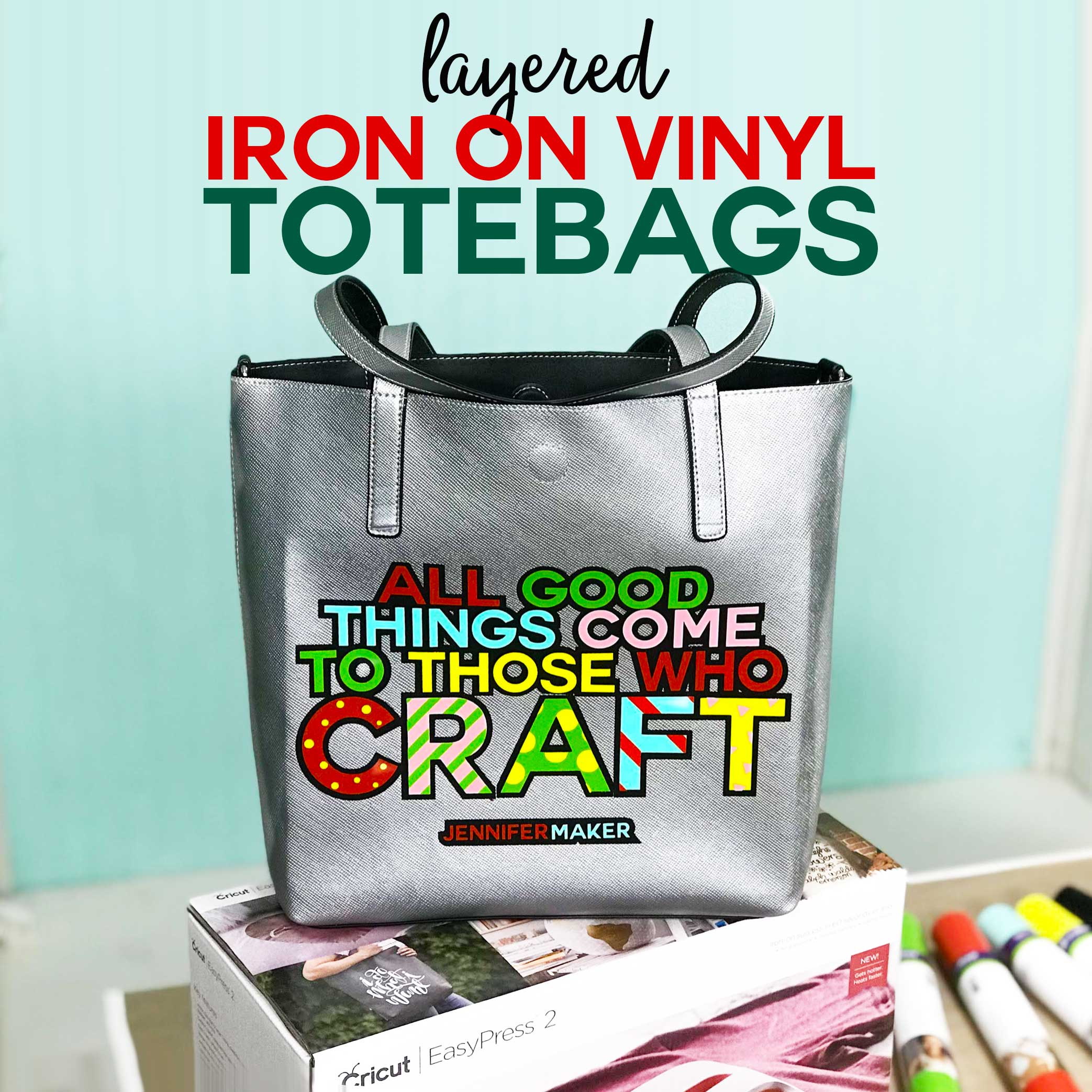 How to Layer Iron On Vinyl Totebags plus free cute bag designs #cricut #cricutmade #svgcutfile #htv #vinyl #cricutexplore