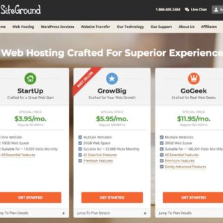 Choosing your Siteground plans in the How to Make a Blog Site with WordPress on Siteground Tutorial