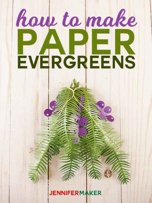 How to make paper evergreens branches and berries | paper juniper | diy paper flowers tutorial