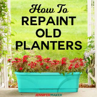 How to Spray Paint Plastic Planters #upcycle #refresh #outdoorliving #spraypaint