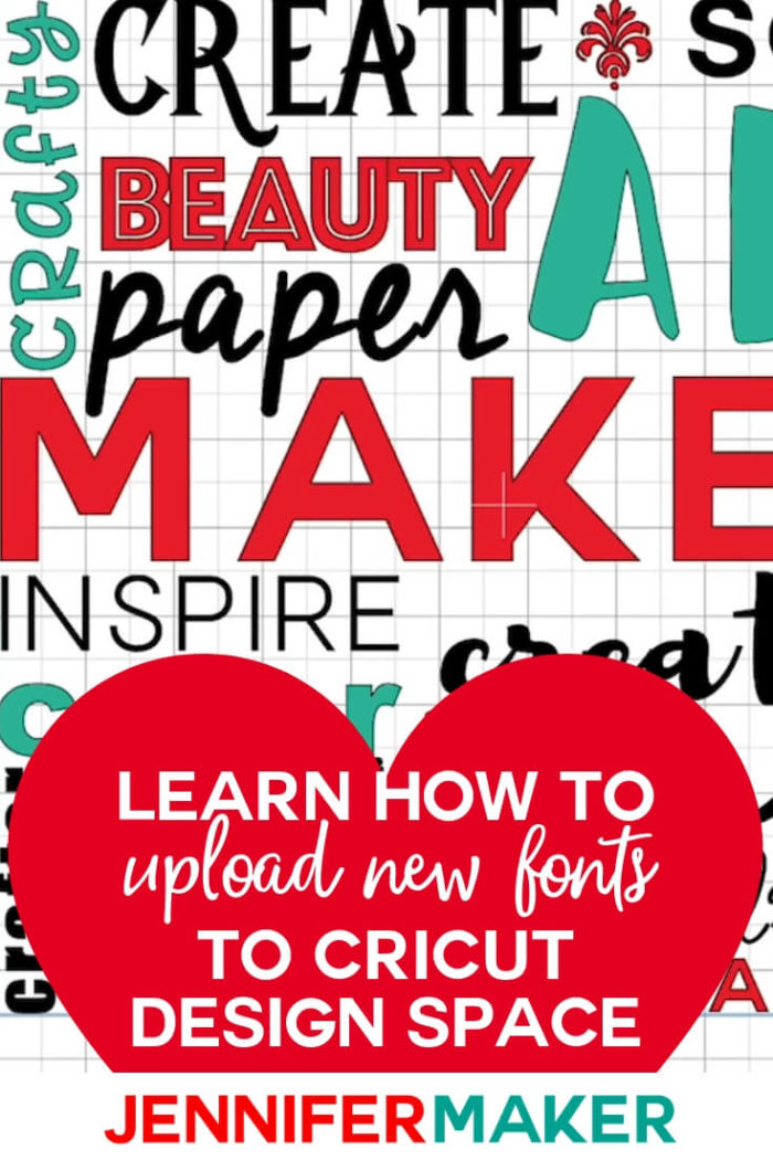 Learn the simplest ways to download and upload fonts to Cricut Design Space in Windows, Mac, and iOS (iPad and iPhone). This will allow you to make custom projects with fonts you love.  #cricut #cricutmade #cricutmaker #cricutexplore #cricutprojects #tutorial