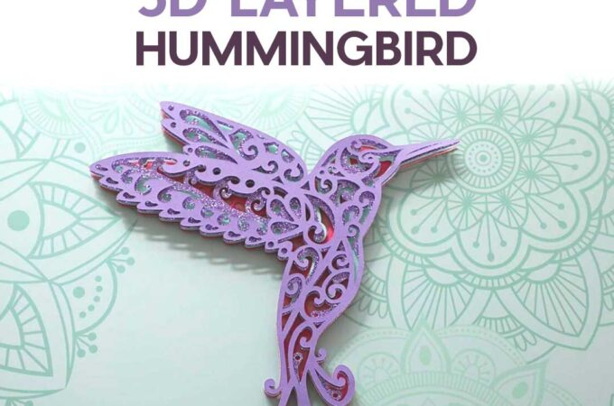 Free Hummingbird SVG to Make a 3D Layered Design