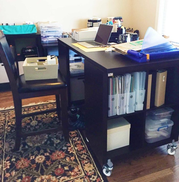 IKEA craft room tables and desk ideas and hacks by reader Patricia Coleman