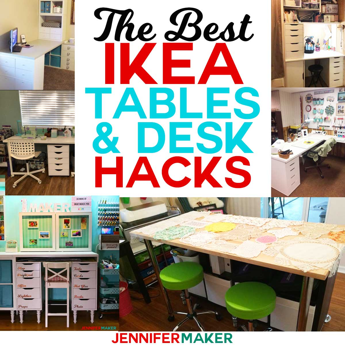 The Best Ikea Craft Room Tables And Desks Ideas Jennifer Maker