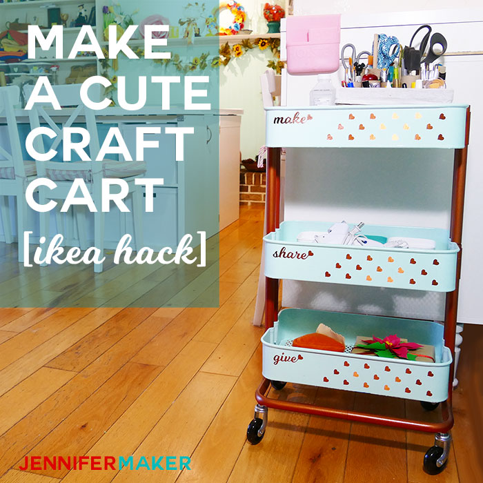 My Best Craft Organizer Cart: The IKEA Raskog | Decorate and Paint the IKEA Utility Cart |
