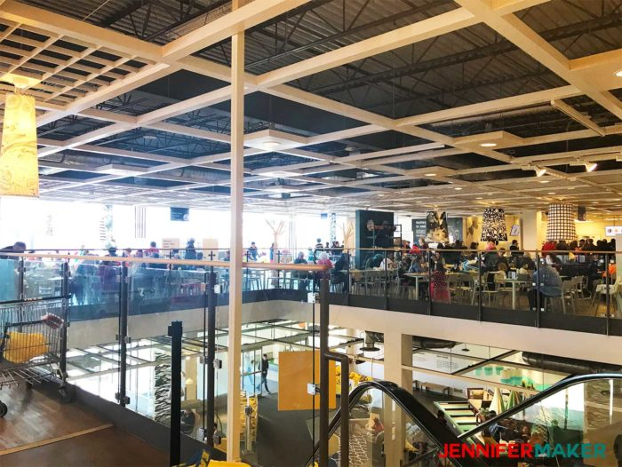 The huge cafeteria at my IKEA store - a useful IKEA tip