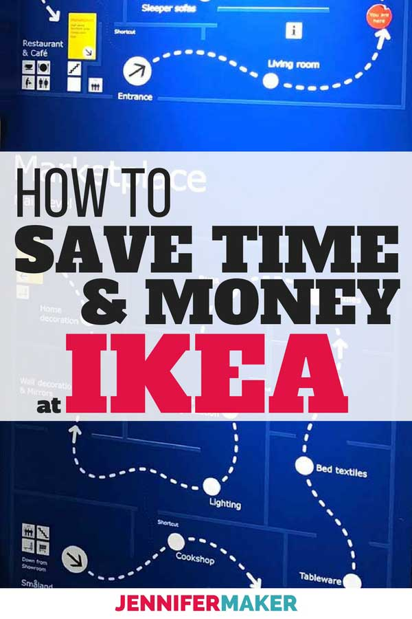 Get IKEA shopping tricks to save time & money BEFORE you go! #diy #homedecor #ikea
