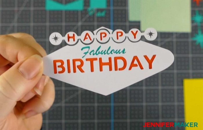 layering the colors on the fabulous birthday impossible card