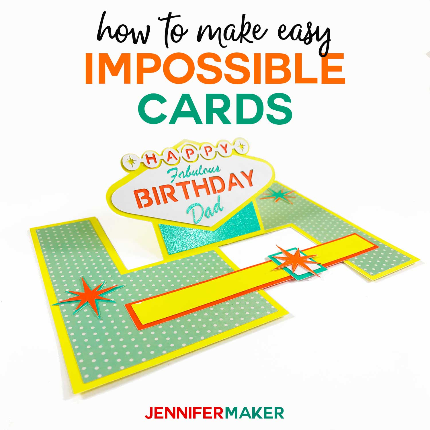 How To Make Easy Impossible Cards With Templates And Svg Cut Files Cardmaking Cricut