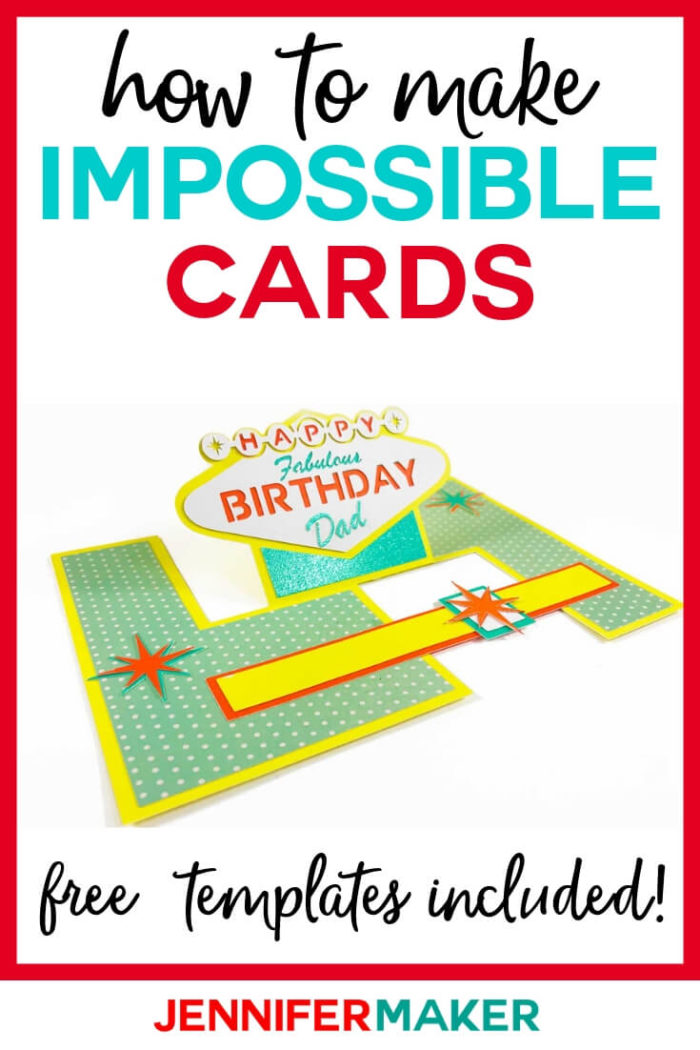 Learn how to make an impossible card, whether you're cutting it out by hand or with a cutting machine, using these easy impossible card templates will help you finish the project quickly. #cricut #cricutmade #cricutmaker #cricutexplore #svg #svgfile