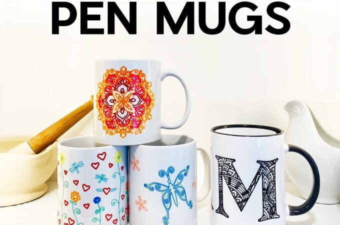 Make Infusible Ink Pen Mugs with the Cricut Mug Press #cricutmugpress #infusibleink