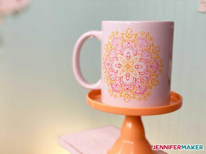 Cricut Infusible Ink pen mug made with PENS and the Cricut Mug Press