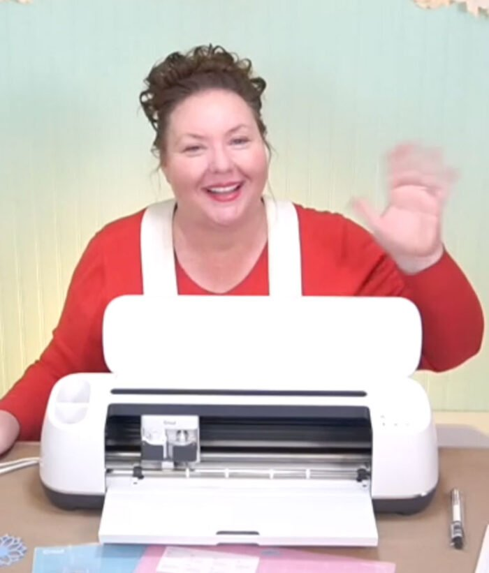 Jennifer Maker with her Cricut Maker cutting machine